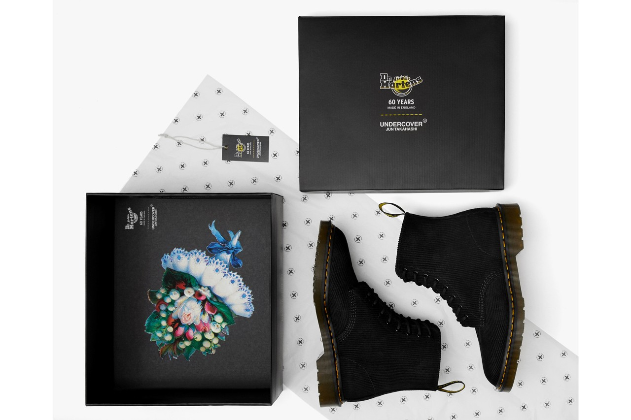Dr Martens Undercover Boots SS20 1460 Remastered Black Floral
