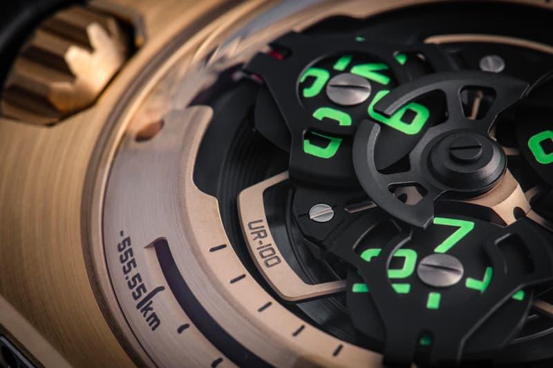 Urwerk UR 100 Gold C3PO Watch Info mechanical watches swiss watches star wars may 4th gold complication watch