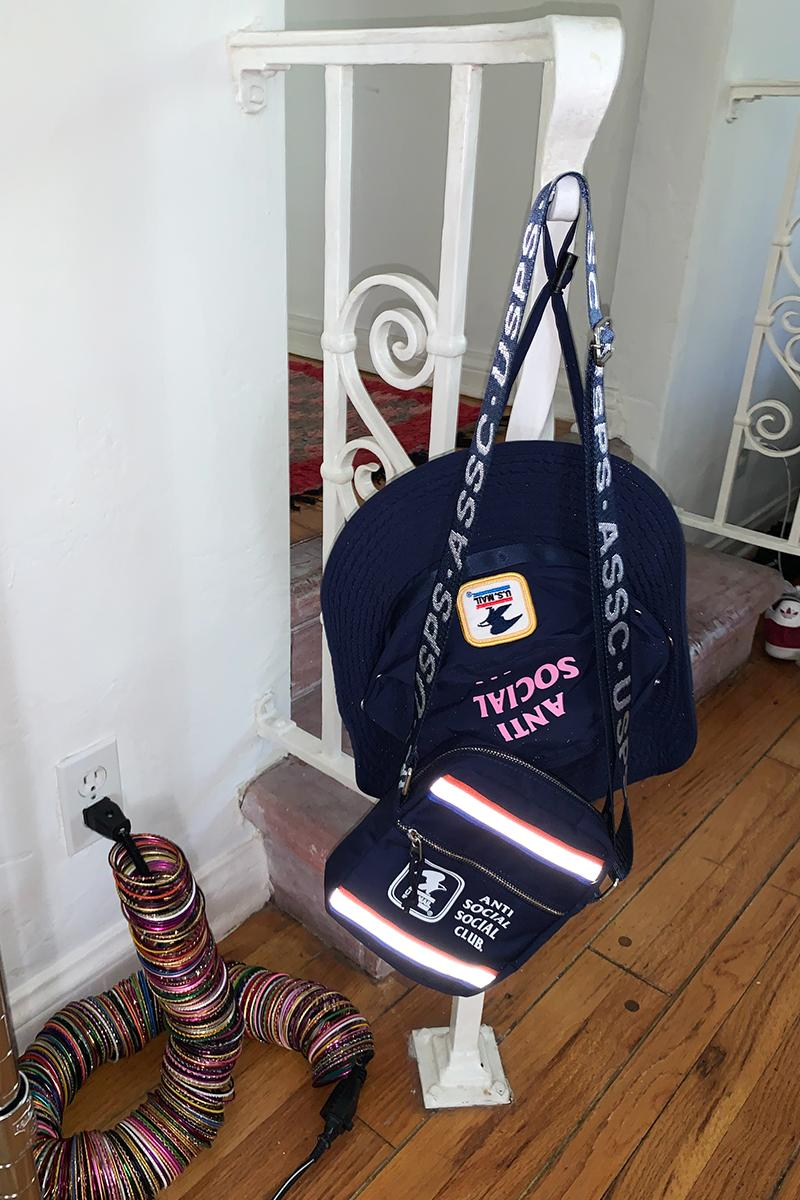 USPS Anti Social Social Club Capsule Lookbook Release work jacket button up sun hat hoodie cap United States Postal Service
