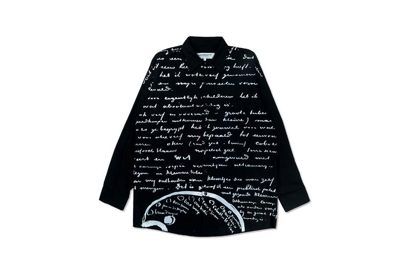 Vincent Van Gogh Museum x TAGS WKGPTY Capsule Collection Release Information First Look Artworks Letters T-Shirts Shirts Trousers Bags Script Text