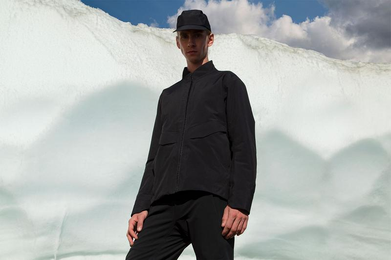 Veilance Fall Winter 2020 Lookbook Ben Zank British Columbia Woods Glacier Snow Ice Forrst Arc'teryx outerwear GORE-TEX Mionn IS Capsule  Coreloft-S Monitor IS SL jackets coats