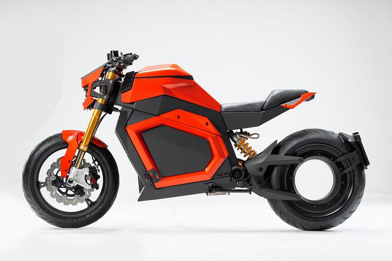 Verge Motorcycles TS Electric Roadster Info hubless evs design transportation motorbikes electric motorcycles