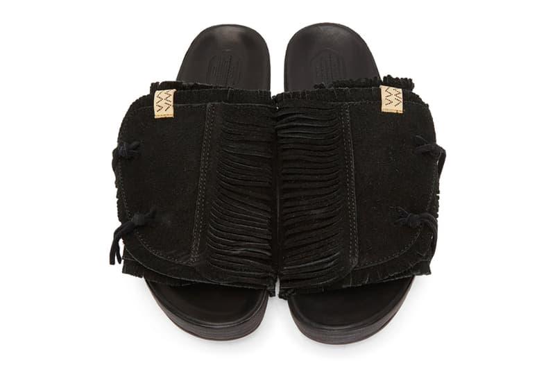 visvim Christo Shaman Folk Sandals in Black FIL ICT Hiroki Nakamura Sandalas Elk Leather Folk Americana Japanese