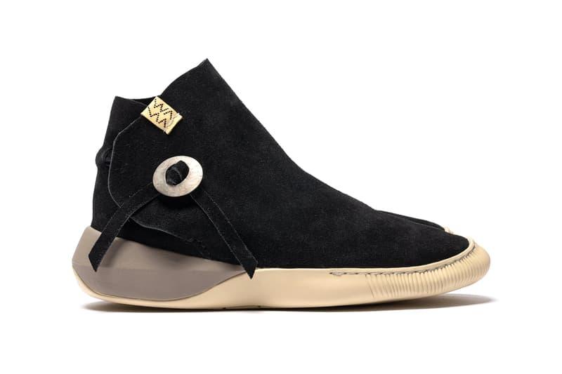 visvim Gila Moc Mid II Folk Black Folk Camel menswear streetwear shoes sneakers trainers runners footwear spring summer 2020 collection hiroki nakamura suede nubuck