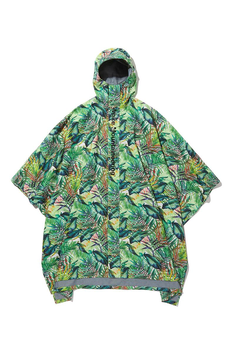 White Mountaineering SS20 Rain Ponchos, Umbrellas spring summer 2020 graphic print pattern collection