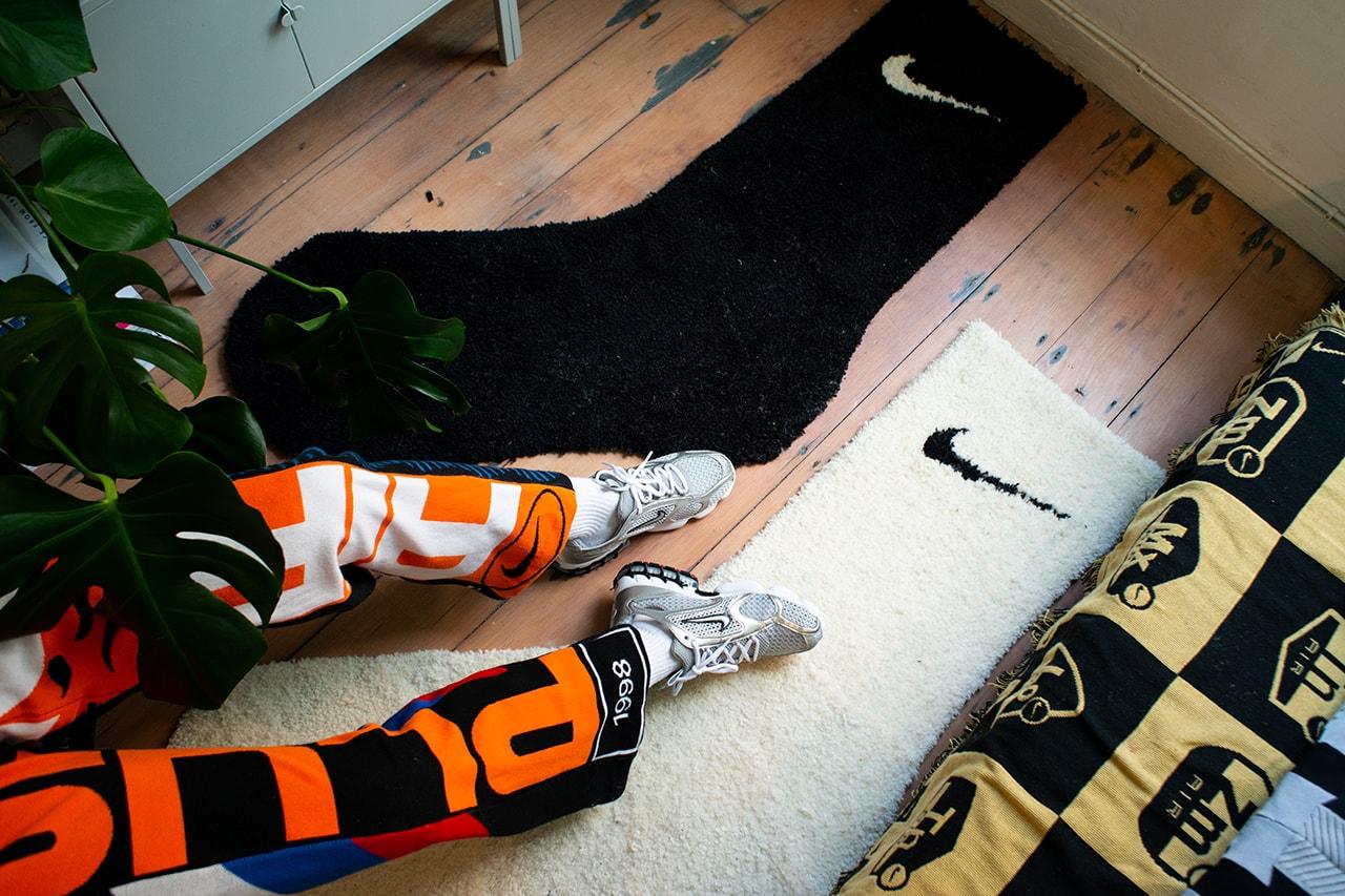 Stay Home Snaps Miniswoosh Alexandra Hackett Studio ALCH Streetsnaps COVID-19 Coronavirus Lockdown Quarantine Isolation Swoosh Socks Nike Rugs ACG Spiridon Cage Air Rift Interview
