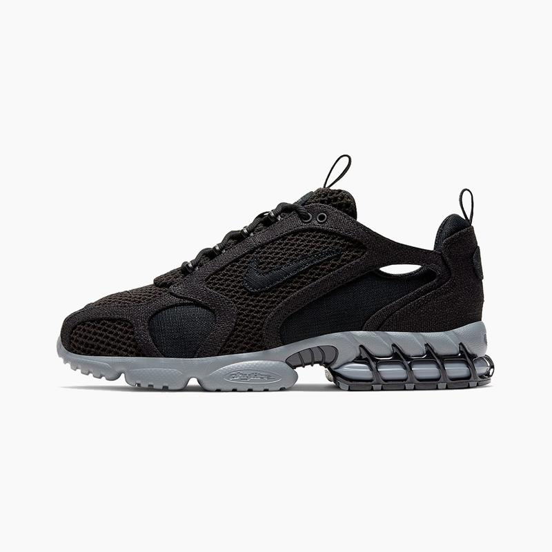 """Stüssy x Nike Air Zoom Spiridon Cage 2 """"Black/Cool Grey"""" Sneaker Release Where to buy Price 2020"""