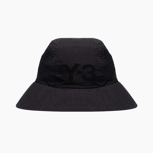 Y-3 Black Strap Detail Bucket Hat