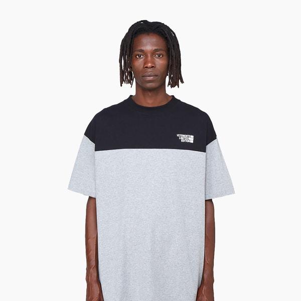 Vetements Contrast-Panel Logo T-Shirt