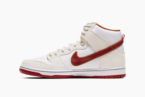 "Nike SB Dunk High ""Team Crimson"""