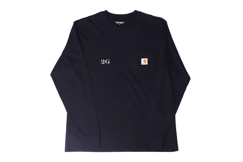 2G Carhartt WIP SUICOKE Capsule menswear streetwear spring summer 2020 collection poggy japanese parco shibuya studio design t shirts espadrilles
