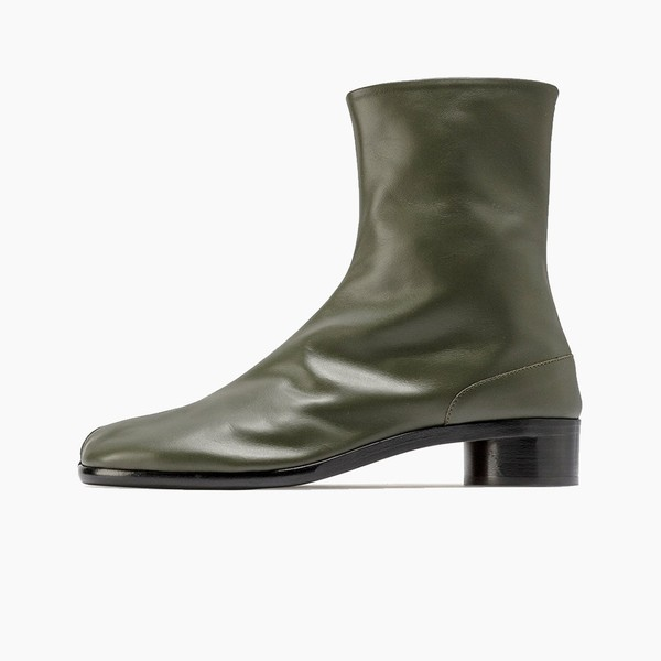 "Maison Margiela Tabi Leather Ankle Boots ""Deep Forest"""