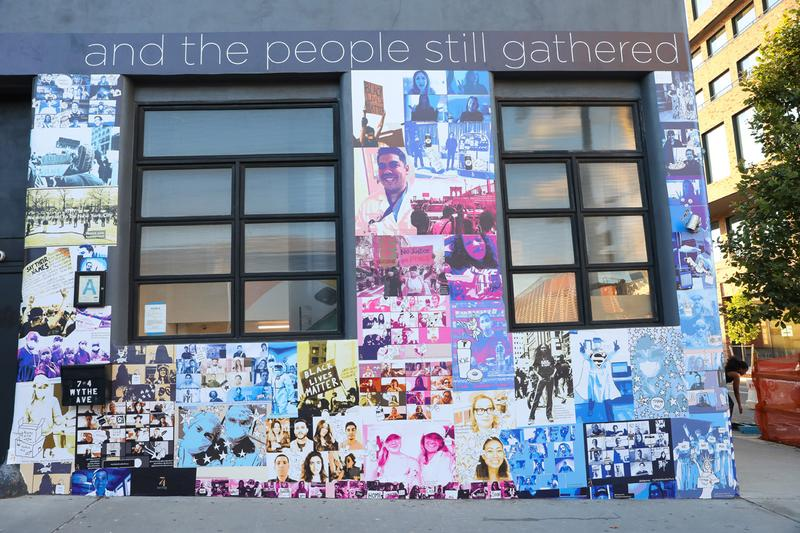 74Wythe Black Lives Matter and COVID-19 Artwork Installations Williamsburg Brooklyn