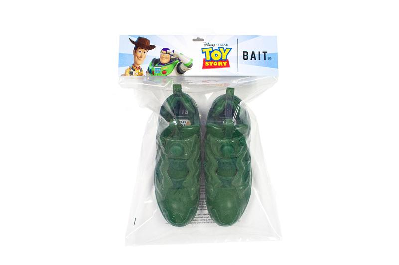 bait reebok army men toy story instapump fury og woody buzz release drop japan collaboration