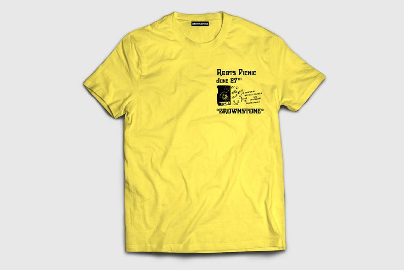 Brownstone for The Roots Picnic 2020 Shirt Merch tee graphics design questlove black thought vote june 27