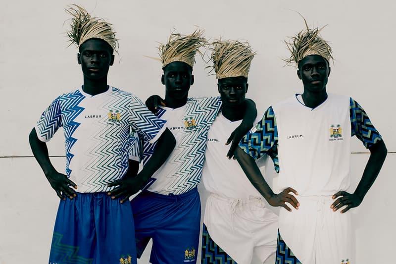 labrum london sierra leone olympics 2020 2021 kit uniform fodya dumbuya african west africa