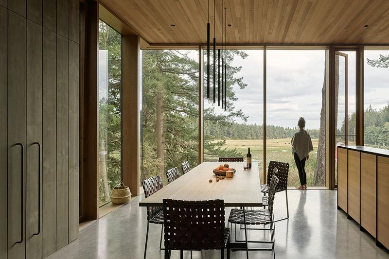 Whidbey Island Farm Retreat Home Design mwworks house interior island washington state barn