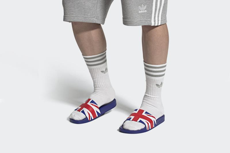 adidas adilette country nation flag ss20 britain england france netherlands italy germany spain usa info release