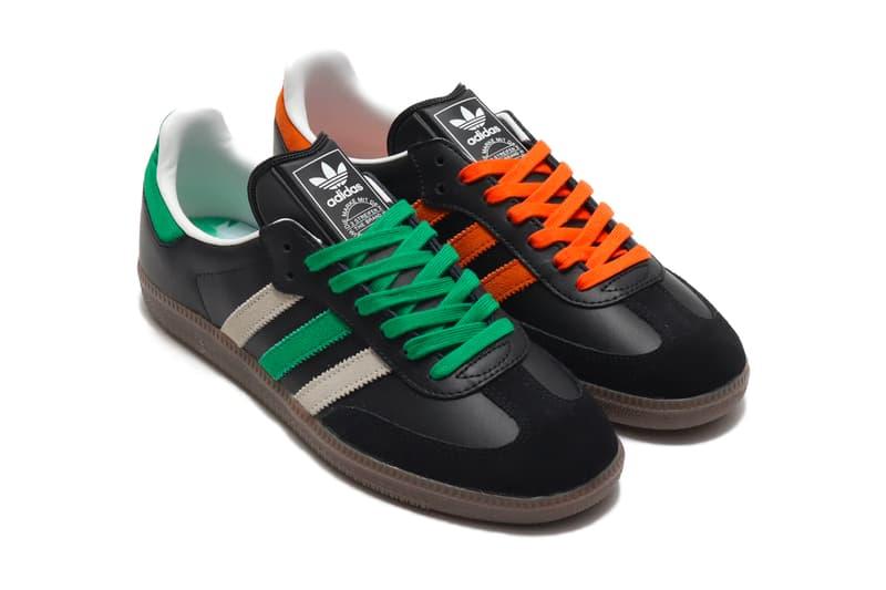 adidas Samba Core Black/Orange FW20 Release trefoil three stripes classic trainers footwear kicks sneakers atmos