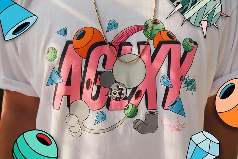 Ageless Galaxy x Dalek Collaboration Capsule collection info tshift coach jacket tote bag pop art graffiti space monkey graphic