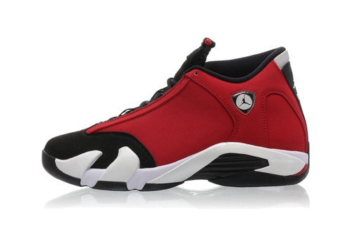 """Air Jordan 14 Revs Up In """"Gym Red"""""""