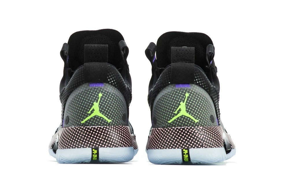 air jordan brand 34 low black white vapor green CZ7750 003 ben day dots official release date info photos price store list buying guide