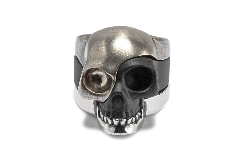 Alexander Mcqueen Stack Skull Ring Release silver made in italy jewelry skulls brass accessories HBX