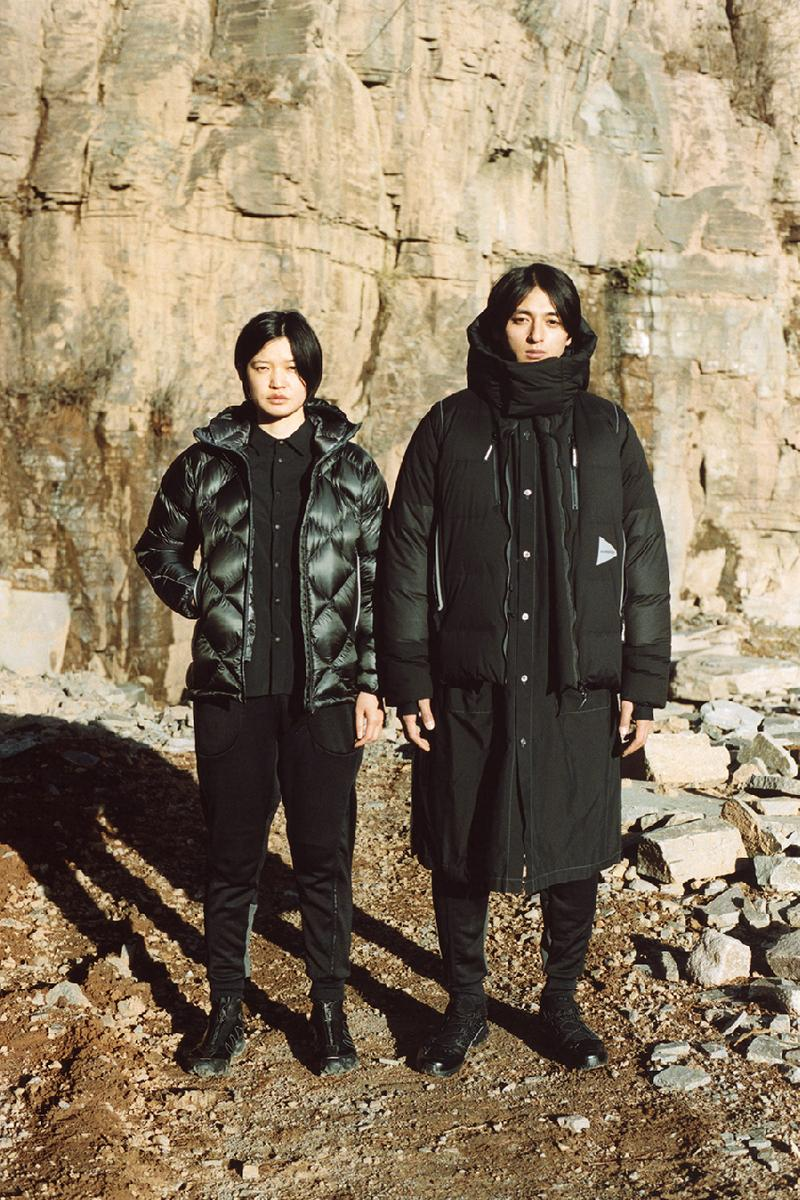 and wander japan label outerwear salomon collaboration fw20 fall winter look book