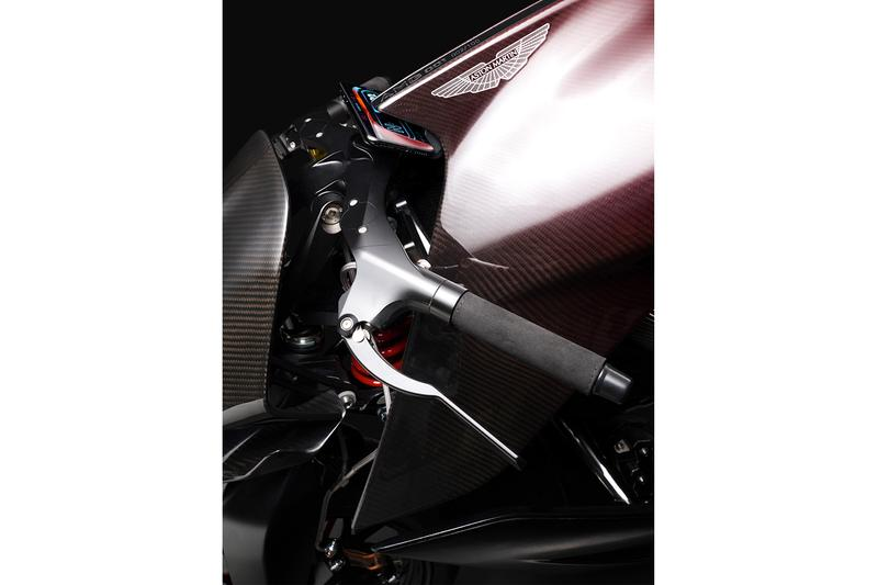 Aston Martin x Brough Superior AMB 001 Motorcycle track only autobike superbike 180 horsepower v-twin motor carbon fiber aluminum frame lightweight