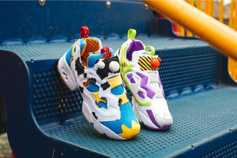 bait reebok disney toy story instapump og sneakers drop release info woody buzz