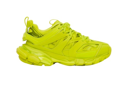 "Balenciaga Drops Electrifying Track.2 Sneakers in ""Acid Lime"""