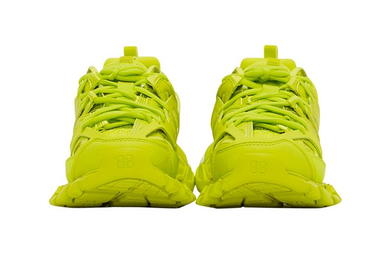 Balenciaga Track2 Acid Lime Sneakers Release Webster footwear shoes kicks trainers luxury fashion bright chunky soles