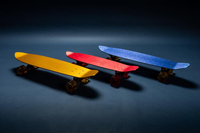 David Carson, Jay Nelson, Nathaniel Russell, Todd Glaser and Cole Barash bonzai slolem skateboards 1970s 70s anodized aluminum art prints