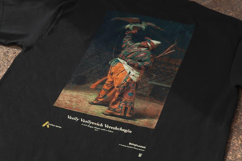 'Beinghunted.' Magazine Issue #03 & Beinghunted. 'Artifact Series': Vasily Vasilyevich Vereshchagin Russian Painter T-Shirt Mags creative agencyState Tretyakov Gallery in Moscow cultural custodians