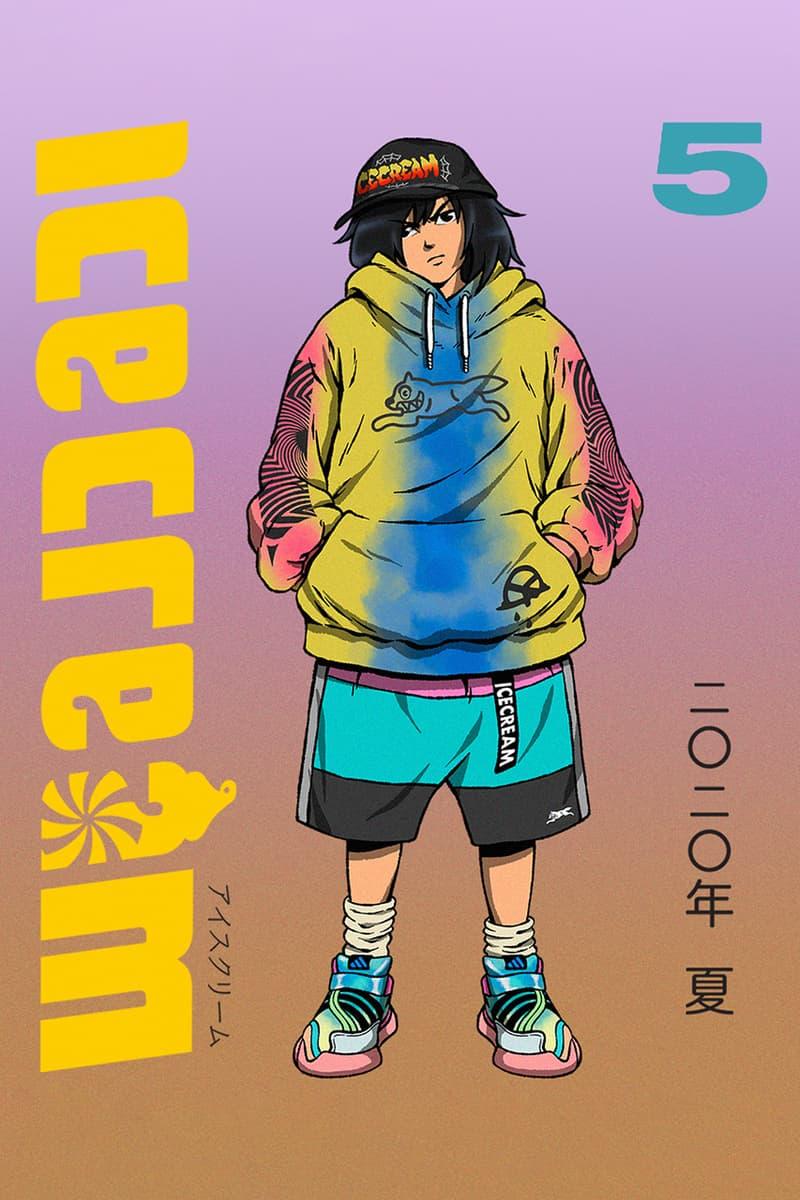 Billionaire Boys Club, ICE CREAM SS20 Lookbooks spring summer 2020 manga drawing illustration collection