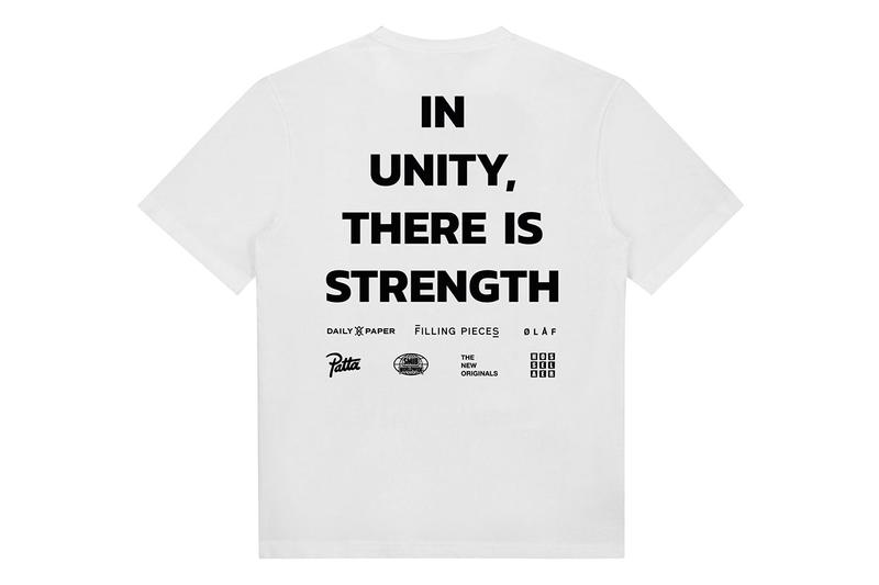 Daily Paper, Patta, Filling Pieces Black Lives Matter Tee shirt blm olaf hussein smib the new originals charity made to order Hosselaer no justice no peace Farida Sedoc In Unity, There Is Strength