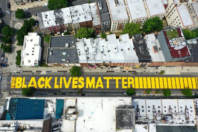 Black Lives Matter Street Mural Trump Tower Manhattan New York City