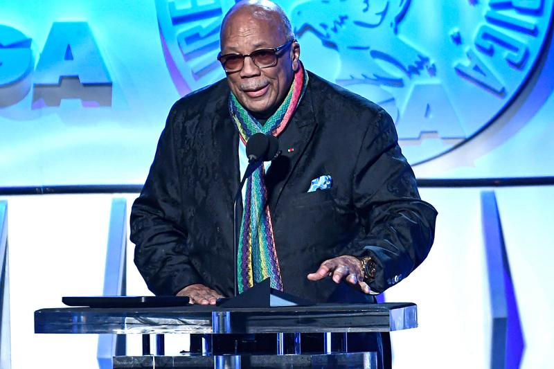 Black Music Action Coalition Formation Announcement  Clarence Avant Irving Azoff Quincy Jones Ron Sweeney Caron Veazey Pharrell Travis Scott David Stromberg Anthony Saleh Future, Nas Gunna Post Malone manager Dre London