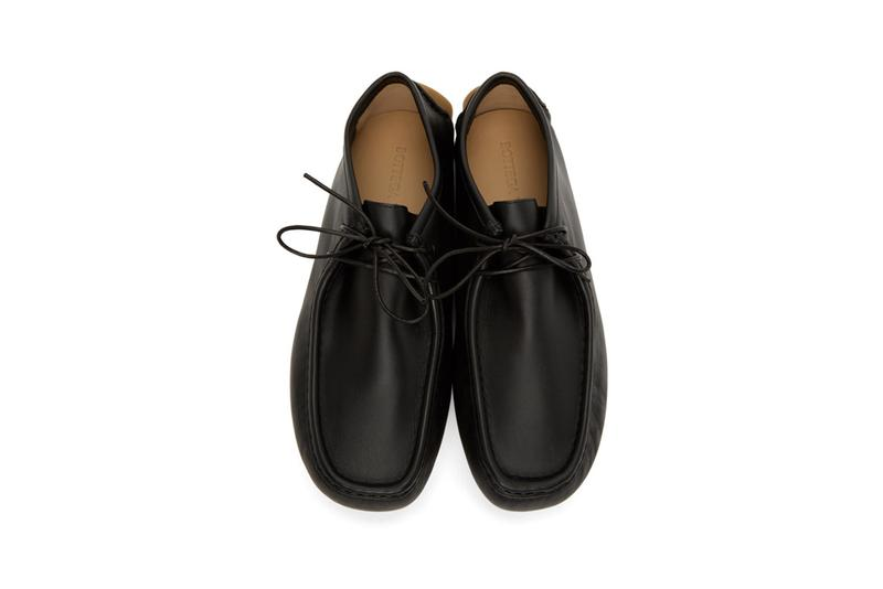 Bottega Veneta Black Driver Loafers SSENSE Lace-up Square Moc Toe Leather Calfskin Shoes