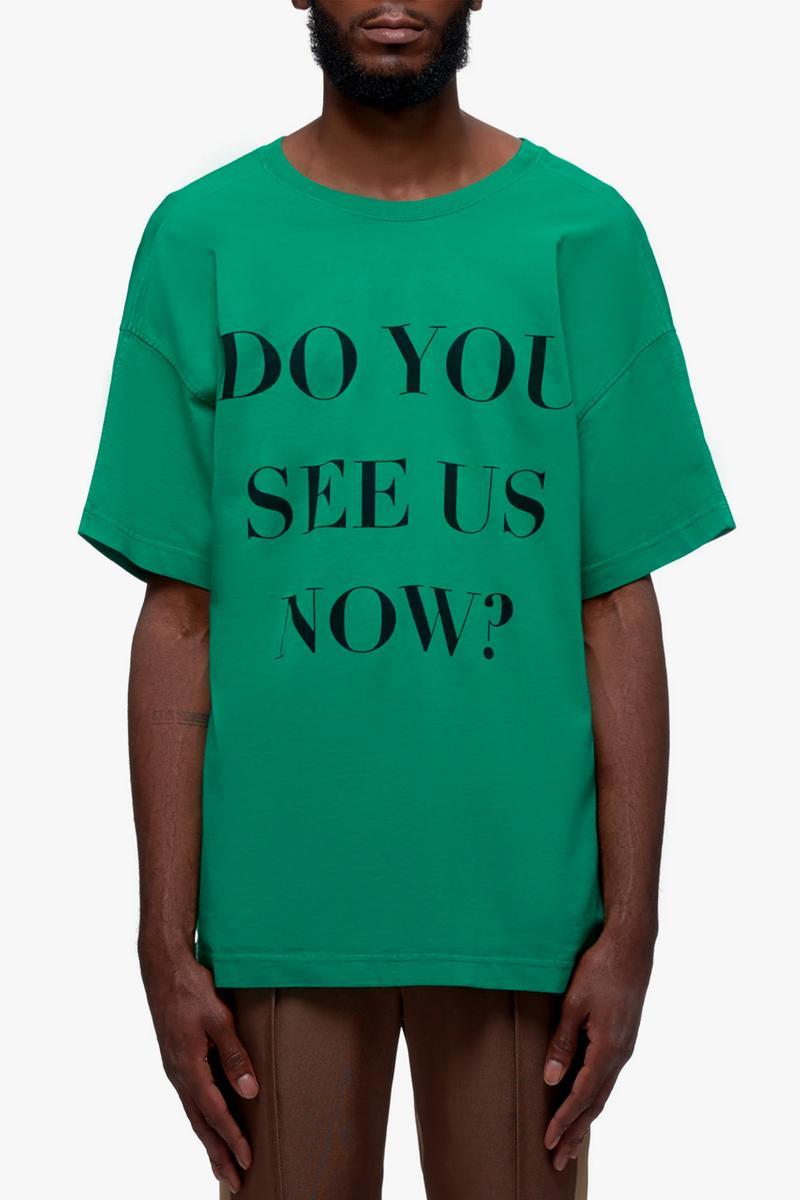 BOTTER DO YOU SEE US NOW T Shirt menswear streetwear spring summer 2020 collection Rushemy Botter Lisi Herrebrugh graphic tees garments pieces
