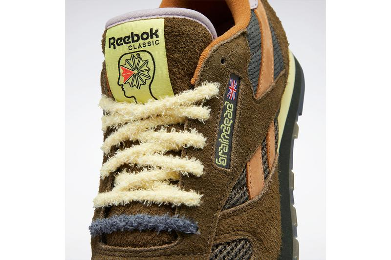 Brain Dead x Reebok Classic Leather Official Images release details info suede brown MOSS / SOFT CAMEL / FILTERED YELLOW FY0832