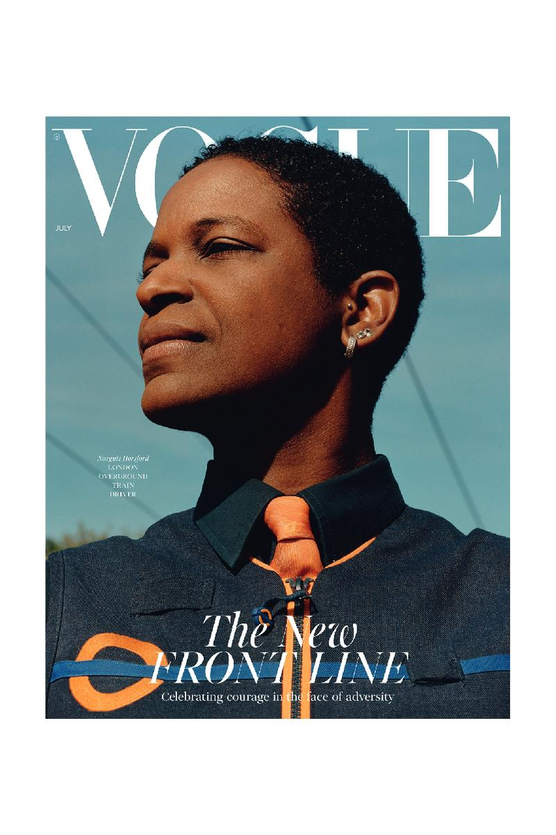 british vogue key workers essential front line NHS  magazine cover july 2020