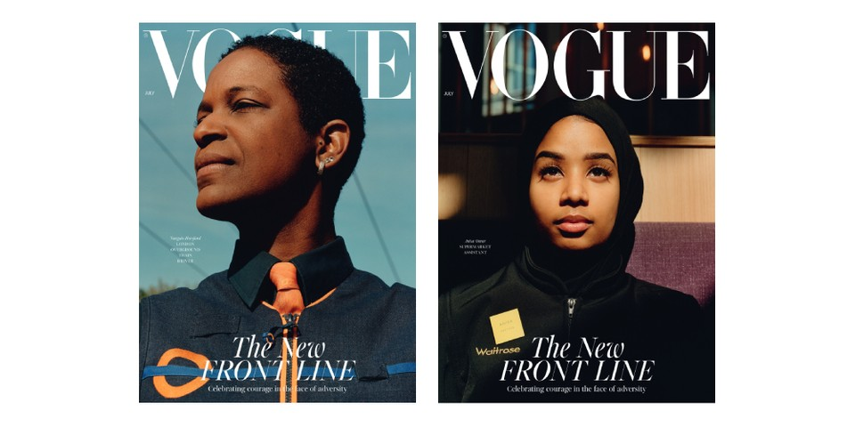 'British Vogue' Honors Key Workers on Cover of Upcoming July Issue