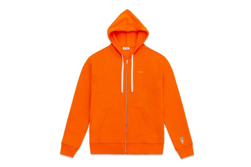 Carrots and Axel Arigato Apparel and Sneaker Drop Clean 90 T-Shirts Zip up Hoodies Sweatpants Rugby Shirt Bird Embroidery Orange Green