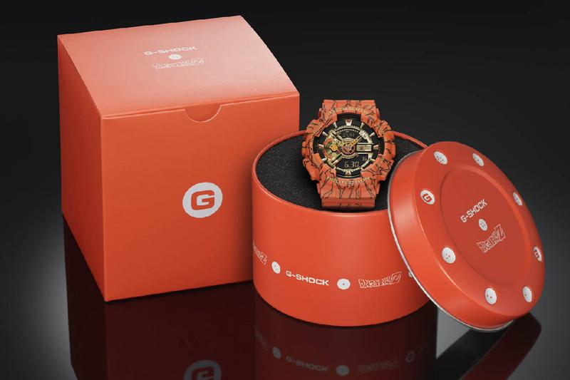 casio g-shock dragon ball z watch collaboration son goku GA-110JDB-1A4 collaboration orange colorway august 2020 release date info buy