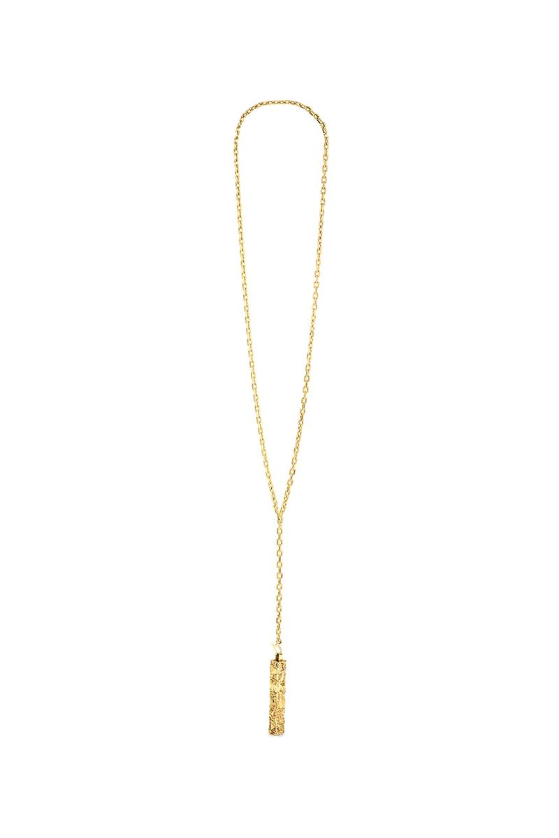 CELINE César Compression Project Foundation César Baldaccini French Artist Hedi Slimane Fine Jewelry Necklace Collaboration Limited Edition 100 Piece Sterling Silver Gold