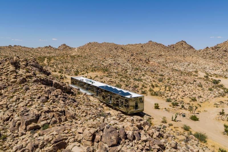 Invisible House Joshua Tree National Park Tomas Osinski Chris Hanley Mirrors Pool Trees Desert