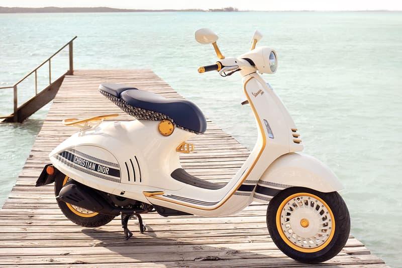 Vespa 946 Christian Dior Custom Scooter Spring 2021 Maria Grazia Chiuri oblique logo pattern