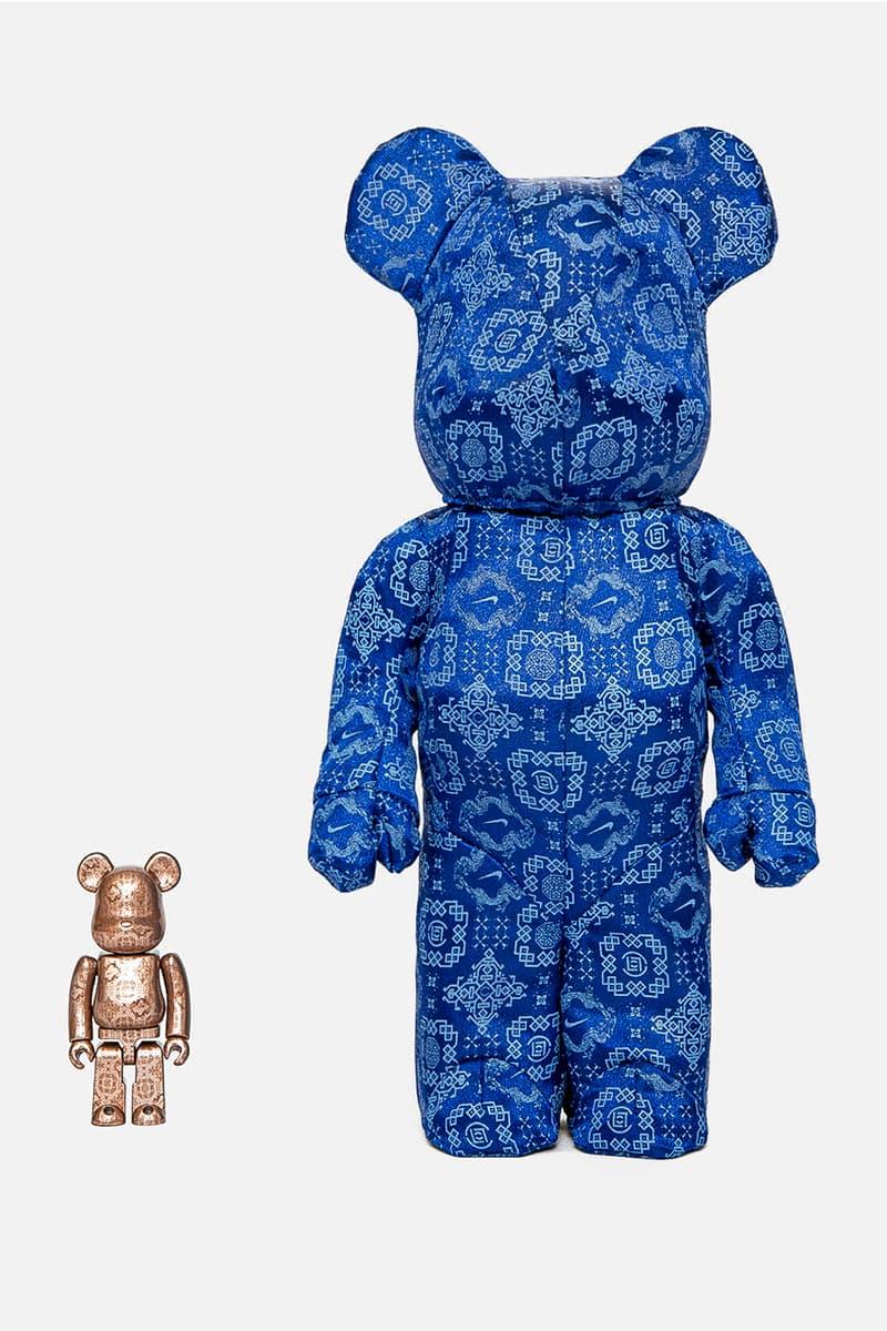 CLOT Nike Medicom Toy ROYALE UNIVERSITY BLUE SILK BE@RBRICK 400 100 Release Info Buy Price Air Force 1