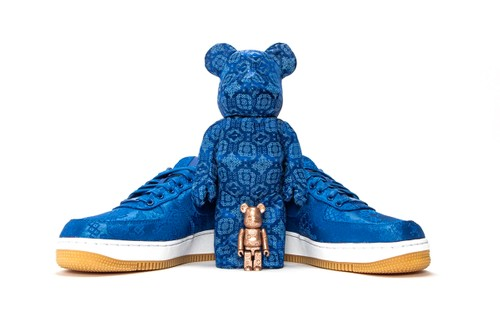 "CLOT Announces Release Info for Nike x Medicom Toy ""Royale University Blue Silk"" BE@RBRICK"